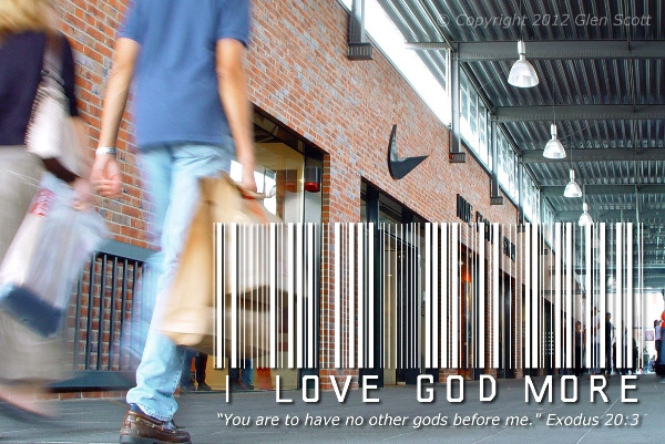 I Love God More Than Shopping